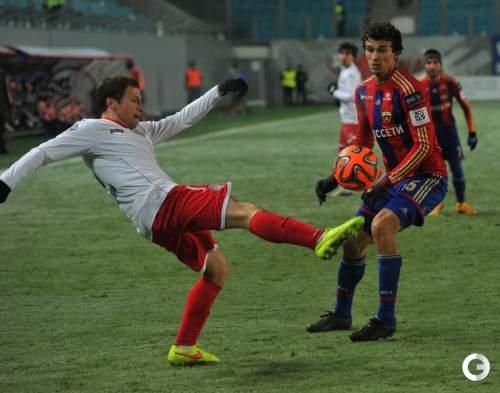 Дубль Еременко принес ЦСКА волевую победу над «Амкаром»